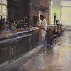 "Anne Blair Brown - ""Good Day's Work""  Original Oil On Canvas, 24"" x 24"""