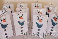 Del congelados Favor de partido de Olaf bolsas por chicaandjo