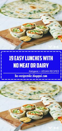 19 Easy Lunches With No Meat Or Dairy Whether you're vegan, vegetarian or just want to save. Vegetarian Meals For Kids, High Protein Vegetarian Recipes, Easy Healthy Recipes, Vegan Vegetarian, Vegan Recipes, Cooking Recipes, Healthy Foods, Paleo, Instant Recipes