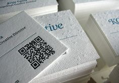 26 Polished White Letterpress Business Card Designs