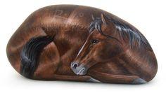 Horse - acrylic on rock | Roberto Rizzo | www.robertorizzo.com