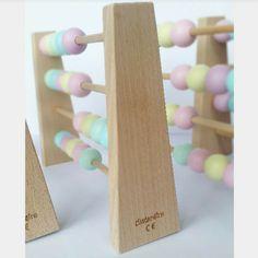 Houten Telraam Pastel - Sassefras Meisjes Speelgoed