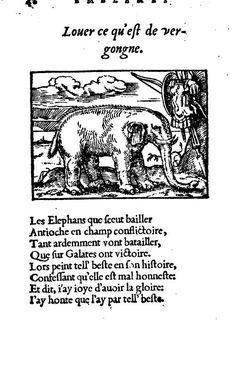 Eléphant par André Alciat (1492-1550) -1550