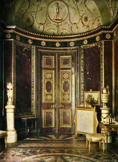 """Agate Room, Tsarskoye Selo """"Tsar's Village"""" former Russian residence of the Imperial Family 1917 Russian Architecture, Architecture Old, Classical Architecture, Beautiful Architecture, Beautiful Buildings, Architecture Details, Winter Palace, Summer Palace, Palace Interior"""