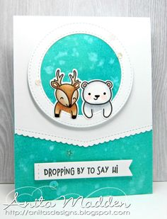 Good morning everyone! I've got a clean and simple card using a new stamp from Lawn Fawn . These adorable images are from the For Y...