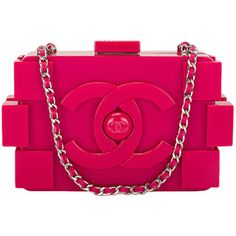 Pre-owned Chanel Fuchsia Pink Lego Clutch Boy Bag