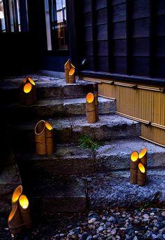 Bamboo lantern festival in Murakami, Japan