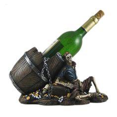 """* """"Pirate Skull"""" Wine Bottle Holder *"""