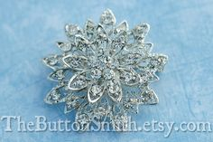 Rhinestone Brooch Component /Embellishment46cm by TheButtonSmith, $5.00