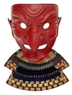 A red-lacquer tengu somen Edo period (18th century)