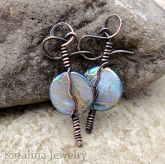 Full+Moon+Shell+Coin+Earrings++Blue+by+KatalinaJewelry+on+Etsy,+$18.00