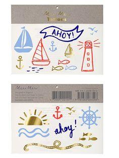 Nautical Tattoos by Meri Meri