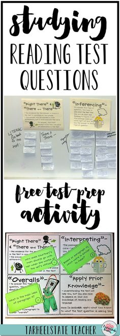 """Read all about how I launch my reading test prep unit with a reading questions sort. My students learn to """"Think Through"""" reading tests and the questions they can expect with this activity. Grab your FREE sorting resources so that you can launch your test"""