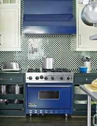 Cobalt Blue #VikingRange featured on @Woman's Day - Visit www.vikingrange.com to see additional colors, sizes, and fuel options.