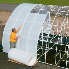 Solexx Rolls by the linear ft Solexx greenhouse rolls are 49in. wide and can be shipped in lengths up to 150 feet through UPS. This modestly-priced greenhouse covering is strong, durable, and lightweight with many useful applications. This same rugged Solexx greenhouse glazing used on our greenhouse kits is Available in two thicknesses: 3.5mm, $6.17 per linear ft. 5mm, $7.90 per linear ft. (Use 3.5mm for almost all applications. Choose 5mm for high altitude or heavy snow areas.)