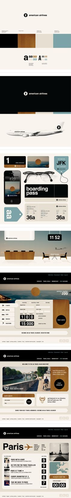 Experimental ID for American Airlines by Anna Kovecses more on http://html5themes.org