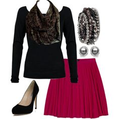 A fashion look from July 2014 featuring long sleeve shirts, pink skirt and high heel shoes. Browse and shop related looks. Infinity Scarf Outfits, Style Inspiration, Shoe Bag, Lace, Polyvore, Collection, Shopping, Shoes, Design