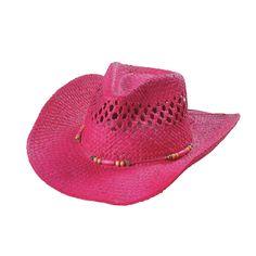 Pink+Woven+Western+Hat+-+OrientalTrading.com