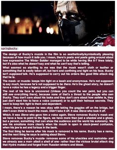 wow indeed! It was Steve who removed Bucky's muzzle and gave him voice again! and the first thing Bucky learns after his mask is removed is his name, and the next thing he says is aking about Steve! BRILLIANT