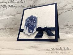 The Craft Spa - Stampin' Up! UK independent demonstrator : Merry Little Labels in Falling Snow...