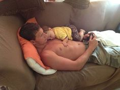Ryan Lochte and his nephew. Holy cow. Marry me?