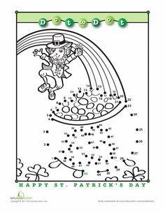 Worksheets: Saint Patrick's Day Dot-to-Dot