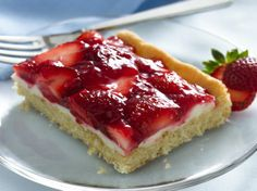 Strawberries and Cream Dessert Squares