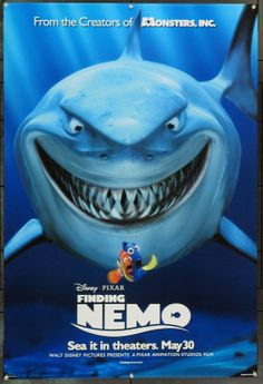 Purchase Finding Nemo the Movie Poster from this Comedy, Kids/Family and Animation Walt Disney/Pixar film. Film Disney, Disney Movies, Disney Pixar, Disney Original Movies, Film Pixar, Pixar Movies, Childhood Movies, Animation Movies, Pixar Characters