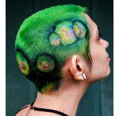 Baddie Hairstyles, Cool Hairstyles, Dye My Hair, Your Hair, Hair Inspo, Hair Inspiration, Shaved Hair Designs, Hair Junkie, Bald Hair