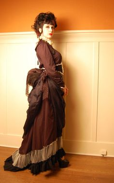 Gothic Victorian Steampunk bustle skirt blouse and belt