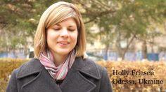 Holly Friesen describing plans for pregnancy care center in Odessa, Ukraine