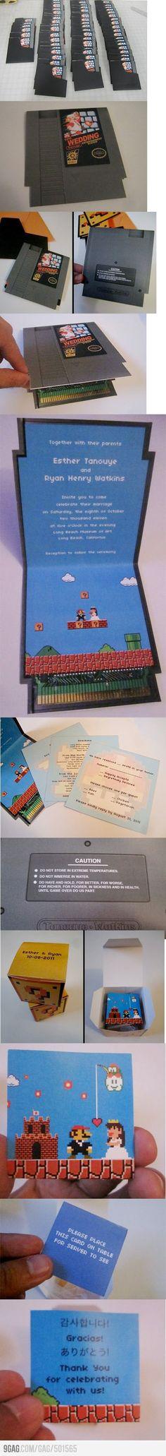Super Mario Wedding Invitations