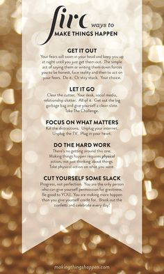 Five simple steps to take to live your dreams. Via @Lara Casey