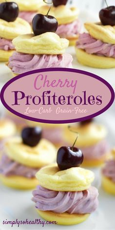 This cherry profiterole recipe is a delicious, low-carb version a of classic treat.  It's suitable for low-carb, gluten-free, grain-free, Atkins or Banting diets.