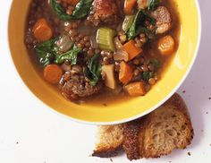 Lentil Soup with Spicy Italian Sausage Recipe