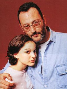 Natalie Portman and Jean Reno during the filming of Leon (The Professional)