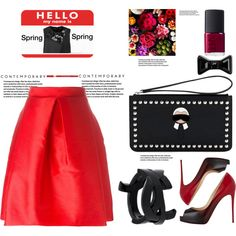 How To Wear Love Red _Love Black Outfit Idea 2017 - Fashion Trends Ready To Wear For Plus Size, Curvy Women Over 20, 30, 40, 50
