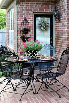 Converting mom's porch furniture into something cute!