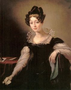 ca. 1820 Zofia z Czartoryskich Zamoyska, daughter of Isabella Czartoryska by ? (location unknown to gogm) | Grand Ladies | gogm
