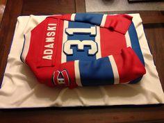 Hockey Birthday Cake, Hockey Party, 35th Birthday, Diy Birthday, Hockey Cakes, Slab Cake, Shirt Cake, 50th Cake, Fantasy Cake