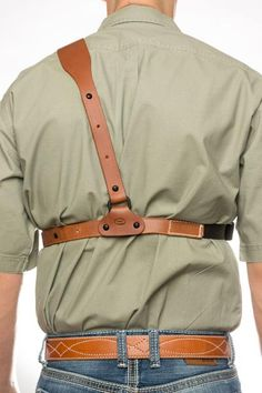 Guides Choice™ Leather Chest Holster, the ULTIMATE outdoor gun holster Concealed Carry Clothing, Concealed Carry Holsters, Gun Holster, Custom Leather Holsters, Leather Belts, Clint Smith, Chest Rig, Kind Words, Handmade Leather