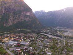 Seeing almost all of Sunndalsøra from Ellefstolen, Møre og Romsdal