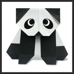 Cute Origami  Sitting Panda