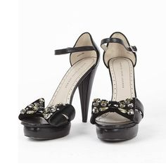 b6bdc193451 Marc by Marc Jacobs Black Leather Sandals