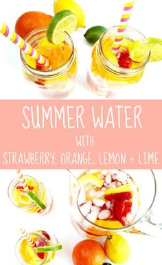 Easy + Refreshing Summer Water Recipe with Strawberry, Orange, Lemon and Lime – Love, Jande