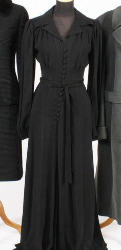 Ossie Clark black maxi dress
