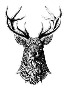 Tattoo Style Animal Illustrations by Ben Kwok http://designwrld.com/tattoo-style-illustrations-ben-kwok/