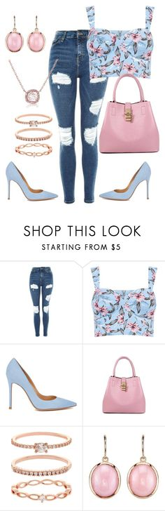 """""""Girls Day 🌸"""" by clara-palmer ❤ liked on Polyvore featuring Topshop, Gianvito Rossi, Accessorize and Irene Neuwirth"""
