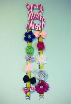 How to Make a Decorative Letter Bow Hanger- want to do this! Anyone want to do it with me?