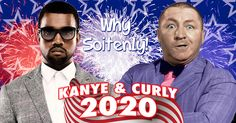 Kanye & Curly! The ticket to win it in 2020! #VMAs #VMAs2015 #WhiteHouse #KanyeWest #2020 #thethreestooges